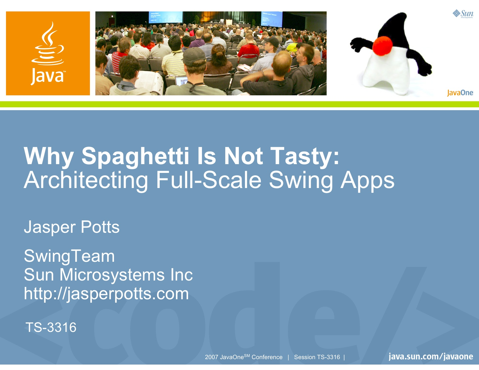 Why Spaghetti Is Not Tasty: Architecting Full-Scale Swing Apps